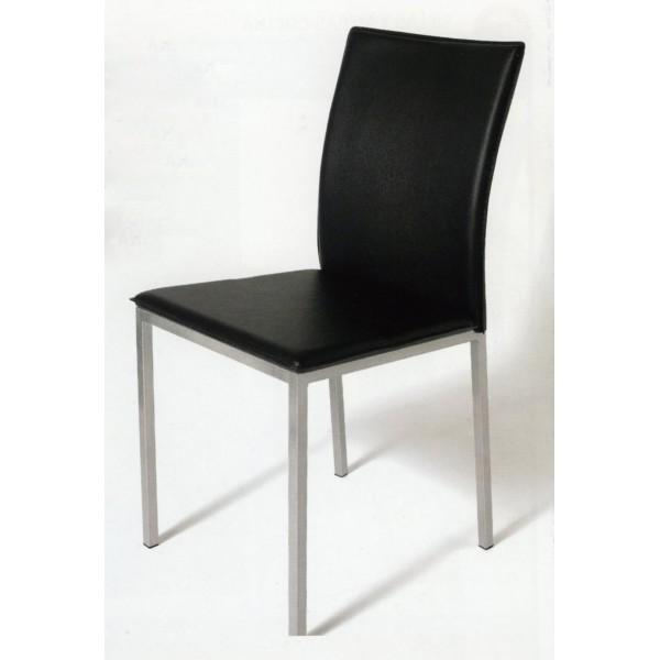 silla de cocina metalica tapizada