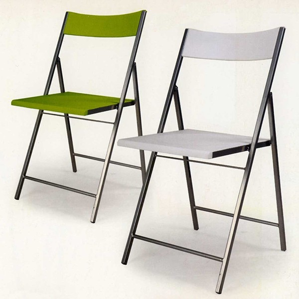 silla plegable auxiliar de acero