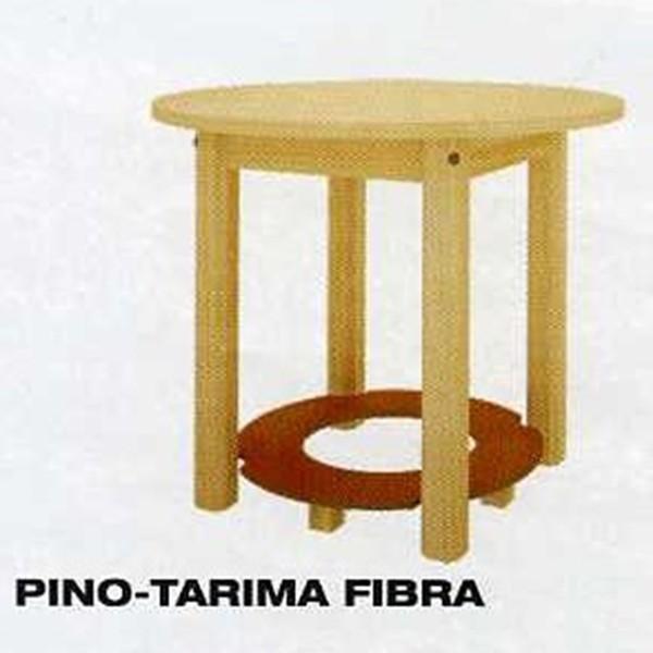 Mesa camilla redonda para brasero en pino o fibra - Mesas camillas redondas ...