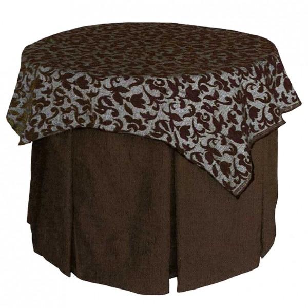 Mesa camilla redonda para brasero en pino o fibra - Mesa camilla redonda ...