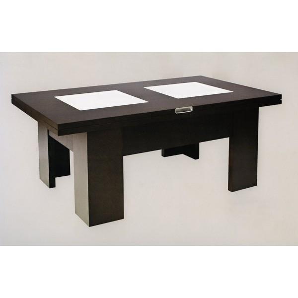 Mesa de centro convertible a mesa de salon de 4 posiciones - Mesa centro convertible ...