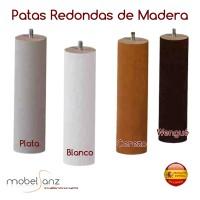 PATAS REDONDAS MADERA A ROSCA