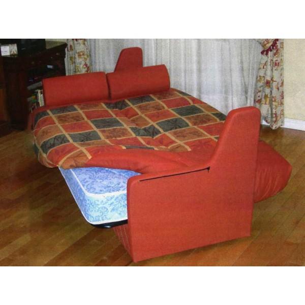 Sofa cama click clack en pino con cajon arcon for Sofa cama de click clack