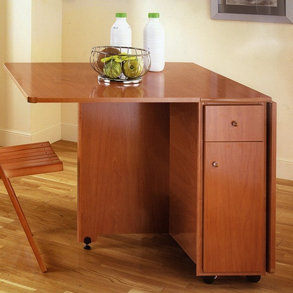 Mesa plegable con alas abatibles para cocina kumpulan - Mesa plegable con sillas dentro ...