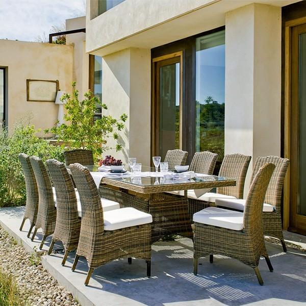 Mesa jard n o de exterior muebles mobelsanz for Mesas de exterior carrefour