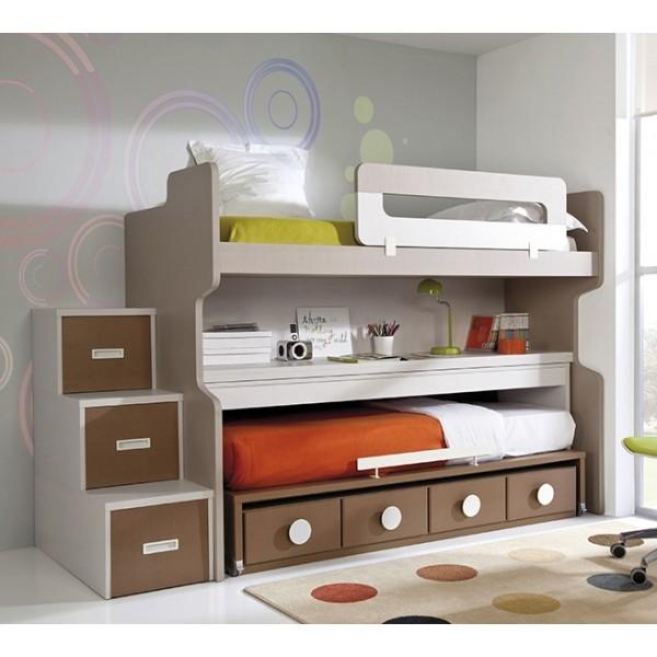 Litera juvenil moderna mobelsanz - Dormitorios con literas para ninos ...