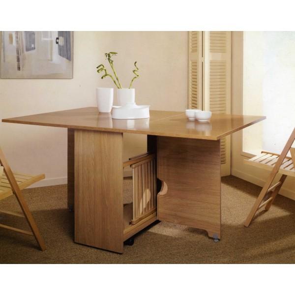 mesa de alas abatibles con sillas robusta