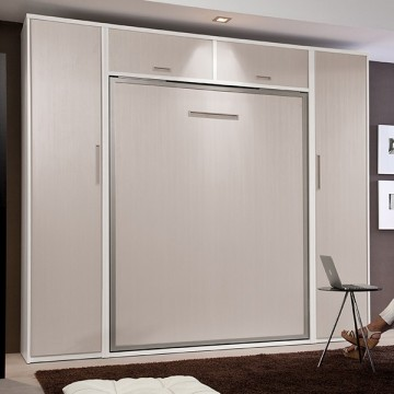 Composición habitacion cama abatible vertical con armarios