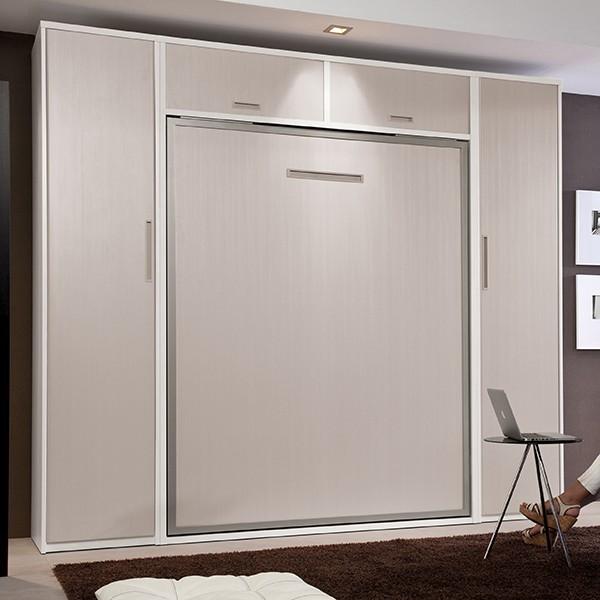 Composici n habitacion cama abatible vertical con armarios - Armario cama abatible ...