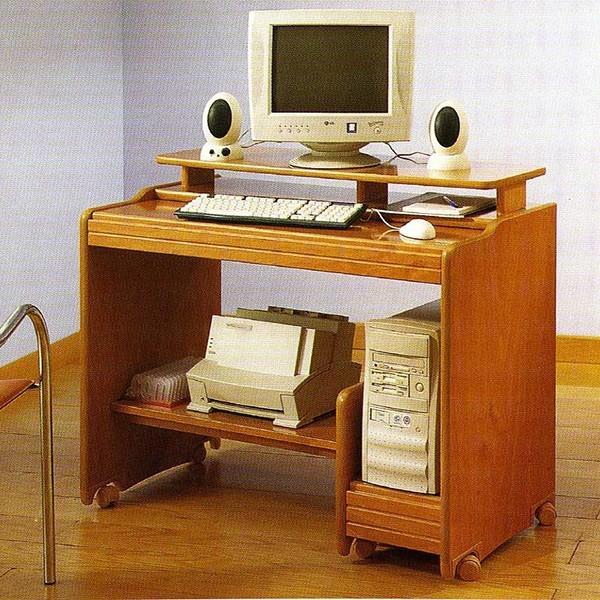 Mesa de ordenador multifuncional con ruedas muy robusta en - Mesa para ordenador con ruedas ...
