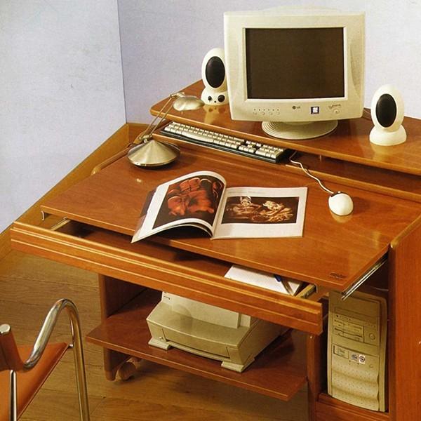 Mesa de ordenador multifuncional con ruedas for Mesas de ordenador