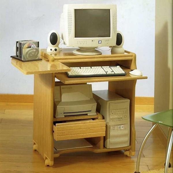Mesa de ordenador con ruedas robusta y funcional - Mesas ordenador con ruedas ...