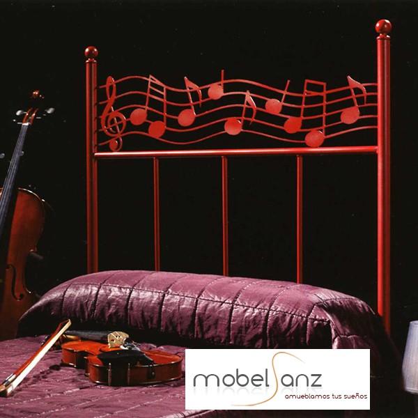 Cabecero de forja moderno infantil con motivo musica - Cabeceros forja modernos ...
