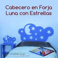 CABECERO EN FORJA ESTRELLAS
