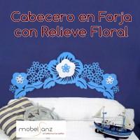 CABECERO EN FORJA FLORAL