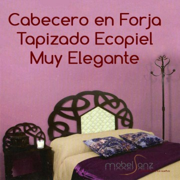 CABECERO EN FORJA TAPIZADO CHARLO
