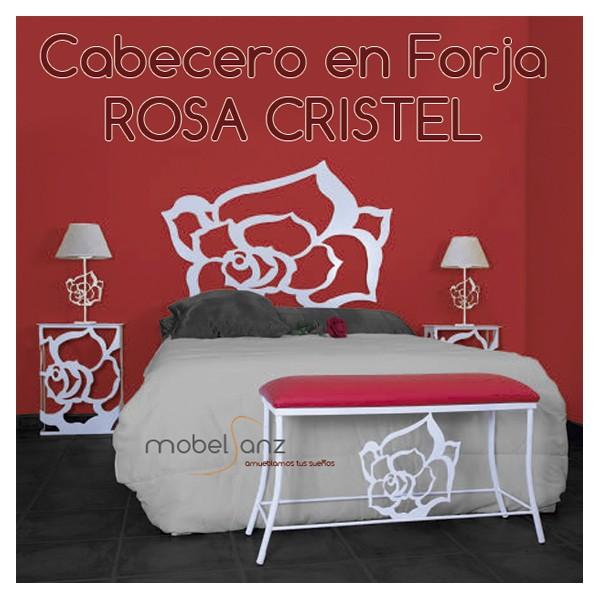 Cabecero en forja moderno con rosas - Cabeceros forja modernos ...