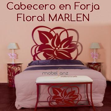 CABECERO EN FORJA FLORAL MARLEN
