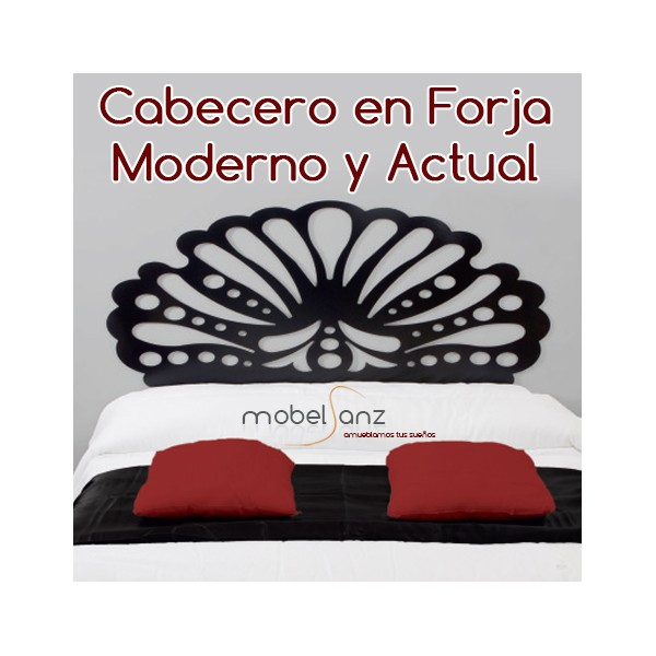 Cabecero en forja moderno y barato genesis - Cabecero forja moderno ...