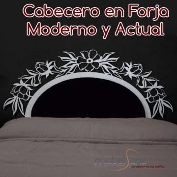 CABECERO EN FORJA FLORAL VENUS
