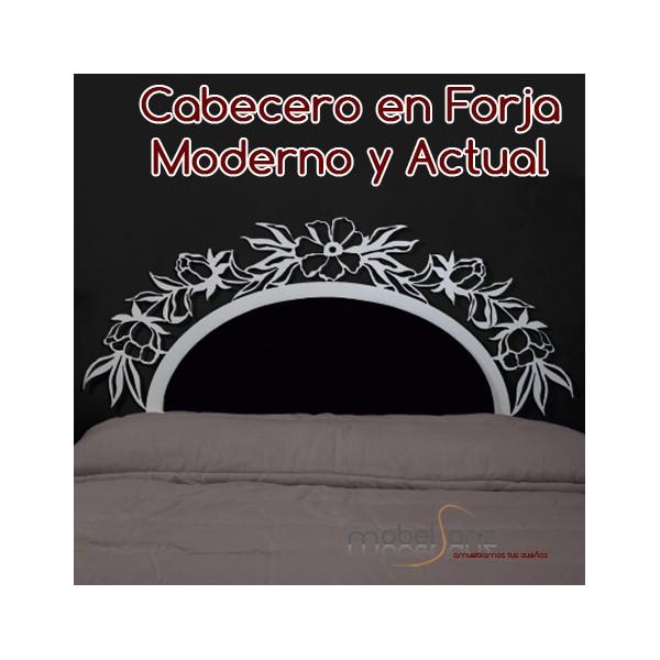 Cabecero en forja moderno con flores - Cabecero forja moderno ...