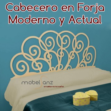 CABECERO EN FORJA MODERNO ADRIA