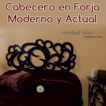 CABECERO EN FORJA MODERNO SHARON