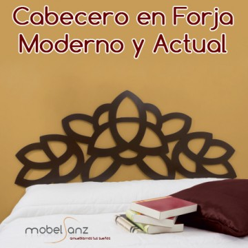 CABECERO EN FORJA MODERNO TALIA