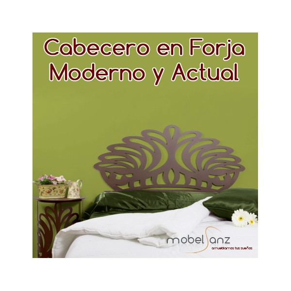 Cabecero de forja moderno y original barato - Cabecero forja moderno ...