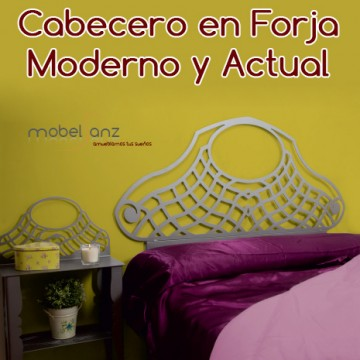 CABECERO EN FORJA MODERNO GALENA