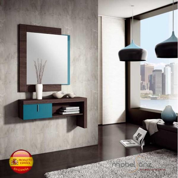 Espejo de pared moderno para recibidor o habitacion for Espejo pared habitacion