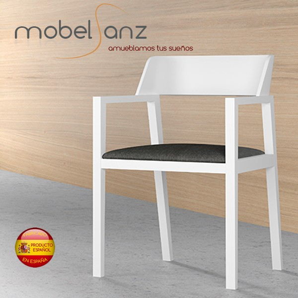 Silla o sillon de salon con brazos moderna for Sillas salon modernas