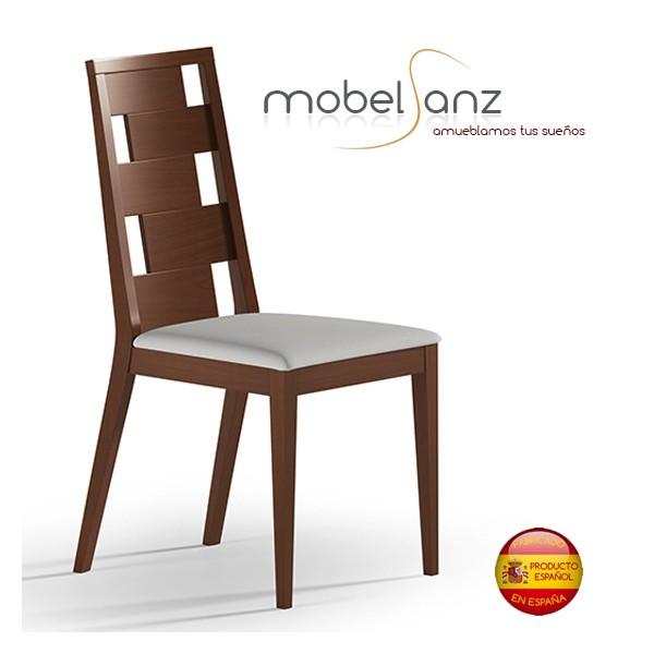 Silla de salon moderna y elegante en madera tapizada for Ofertas sillas salon