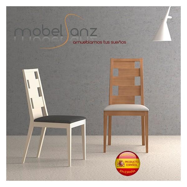Silla de salon moderna y elegante en madera tapizada for Sillas salon modernas