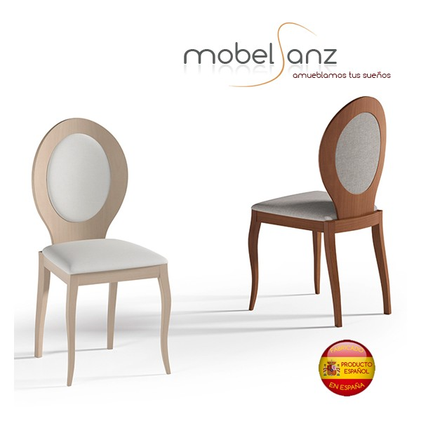 Silla de salon moderna en madera de haya for Ofertas sillas salon