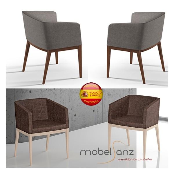 Sillon salon clasico moderno en haya tapizado - Salon clasico moderno ...
