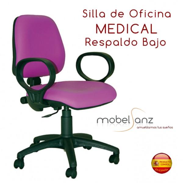 Silla de oficina con ruedas giratoria tapizada for Sillas de oficina con ruedas