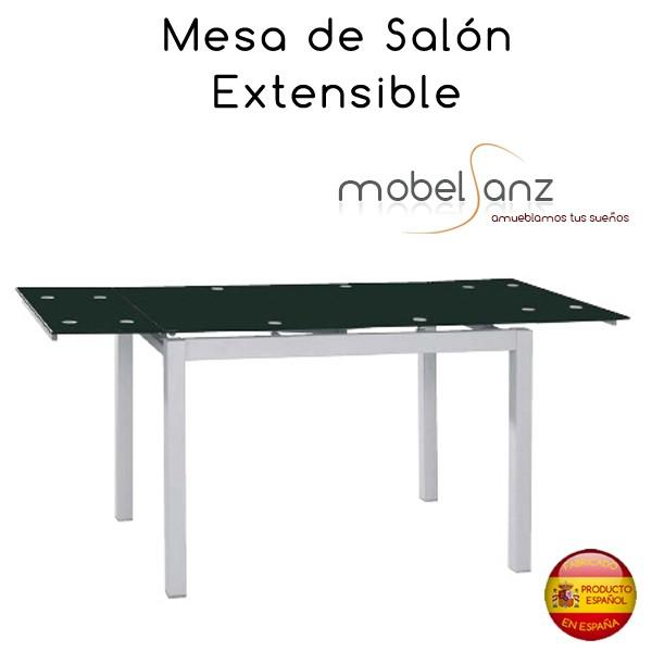 Mesa extensible de cristal de salon o cocina for Mesa salon extensible