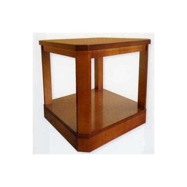 Mesa de rincon cuadrada clasica de madera - Mesas de rincon ...