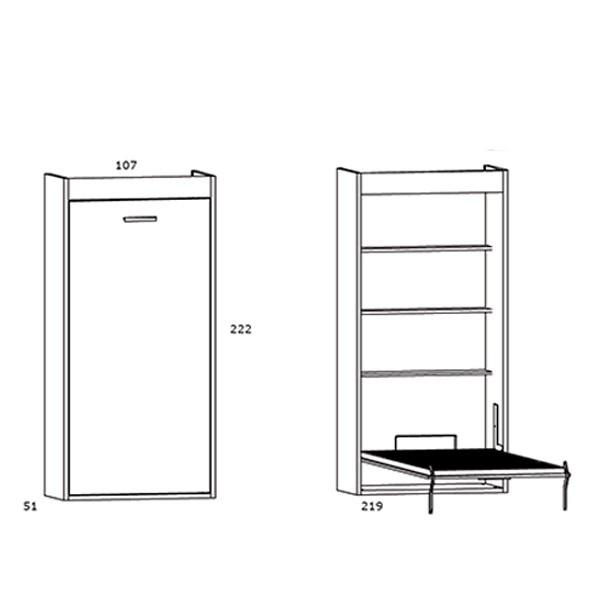 Camas abatibles verticales precios y medidas top litera for Mueble litera abatible vertical
