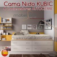 CAMA NIDO JUVENIL KUBIC DE 4 CONTENEDORES AUTOCIERRE