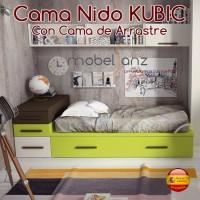 CAMA NIDO JUVENIL KUBIC CON CAMA DE ARRASTRE