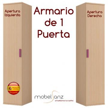 ARMARIO JUVENIL DE 1 PUERTA ENTERA ABATIBLE