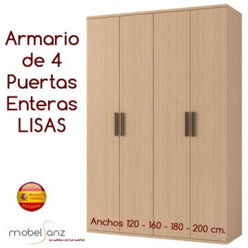 ARMARIO JUVENIL DE 4 PUERTAS ENTERAS ABATIBLES