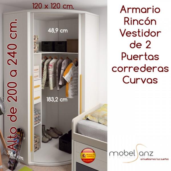Armario 120 puertas correderas free armarios baratos de - Armario 120 puertas correderas ...