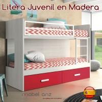 LITERA JUVENIL MODERNA EN MADERA