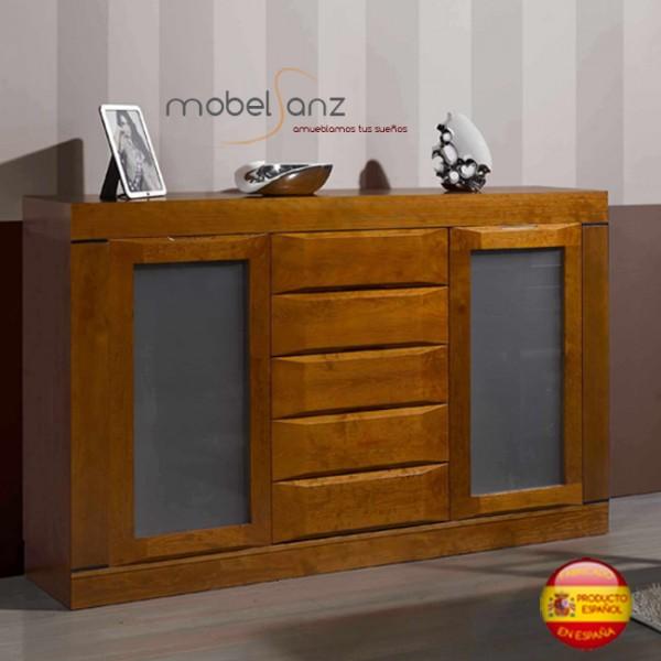 Mueble aparador auxiliar en pino macizo para salon - Muebles pino macizo ...