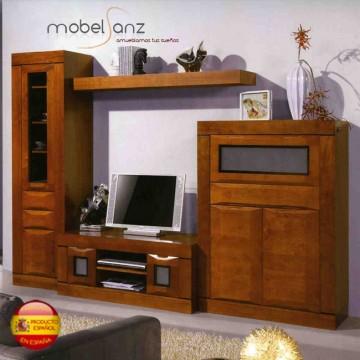 mueble clasico moderno de salon en pino