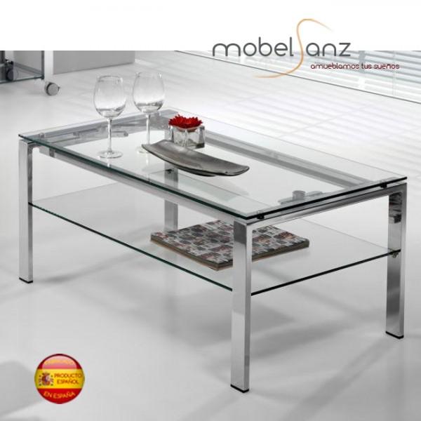 Mesa de centro elevable de cristal moderna for Mesas de salon de cristal