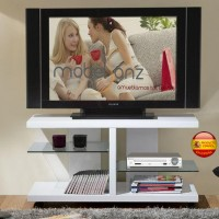 MESA DE TELEVISIÓN MODERNA CON CRITAL